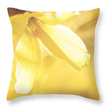 Mellow Yellow Throw Pillow by Kharisma Sommers