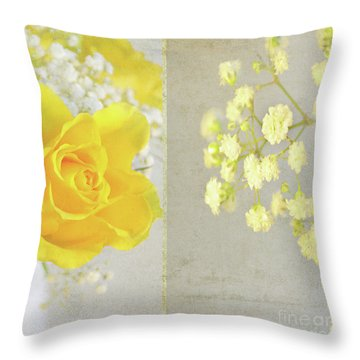 Throw Pillow featuring the photograph Mellow Yellow by Lyn Randle