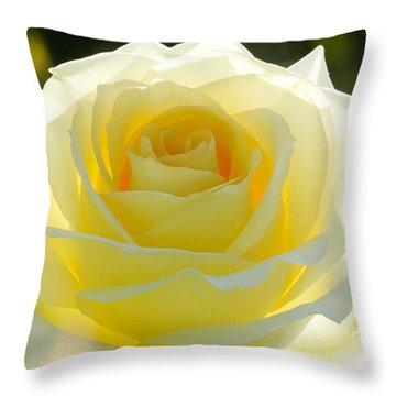 Mellow Yellow Rose Throw Pillow by Sabrina L Ryan
