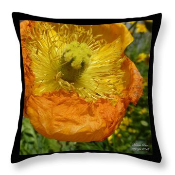 Mellow Yellow - Signed Throw Pillow