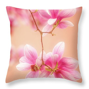 Melodies Of Spring  Throw Pillow by Philippe Sainte-Laudy