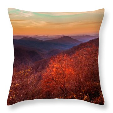 Melody Of Autumn Throw Pillow by Karen Wiles