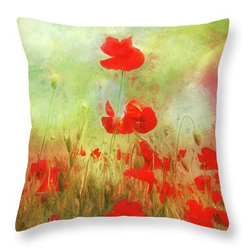 Melody Of Summer Throw Pillow