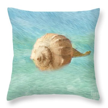 Throw Pillow featuring the photograph Melody Of The Sea by Betty LaRue