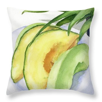 Cantaloupe Throw Pillows