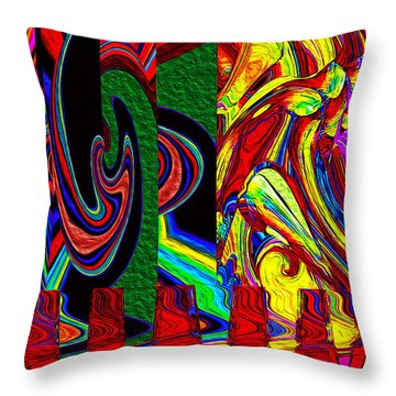 Melt Down Throw Pillow