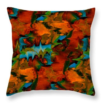 Meltdown Throw Pillow by Stephen Anderson