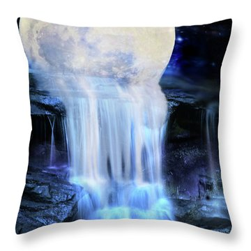 Melted Moon Throw Pillow