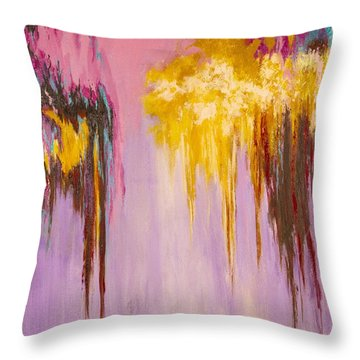 Melted Throw Pillow by Suzzanna Frank