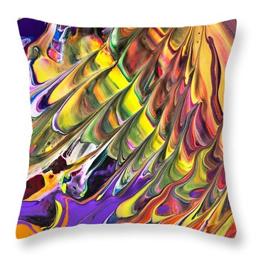 Melted Swirl Throw Pillow