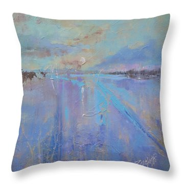 Melting Reflections Throw Pillow by Laura Lee Zanghetti