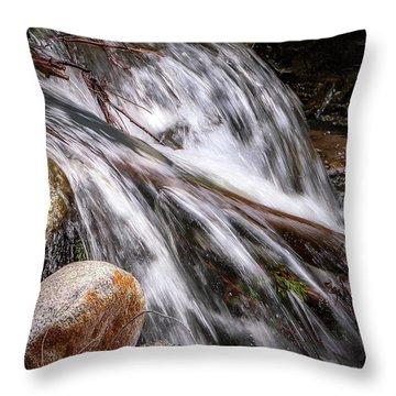 Melting Snow Falls Throw Pillow by Elaine Malott