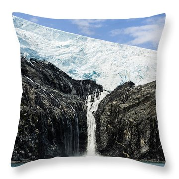 Meltwater From The Northland Glacier Throw Pillow