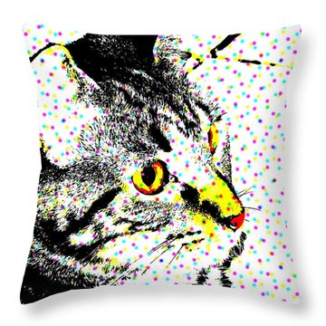 Melvin In Dots Throw Pillow