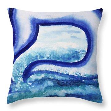 Mem In The Sea Throw Pillow