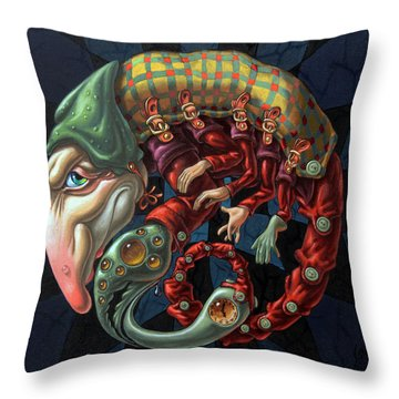 Memento Mori. Red Scorpion Throw Pillow