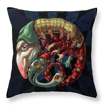 Memento Mori. Red Scorpion Throw Pillow