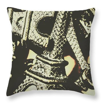 Mementos Of Paris France Throw Pillow