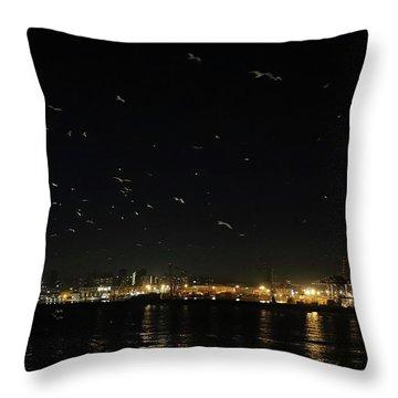 Memorable Naples Evening Departure Throw Pillow
