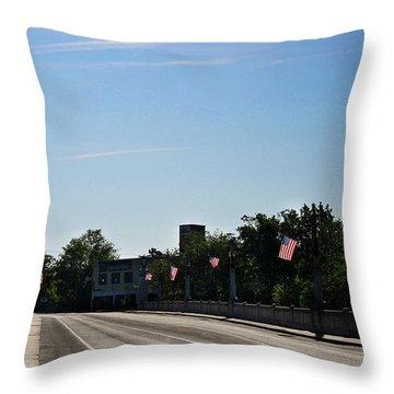 Memorial Avenue Bridge Roanoke Virginia Throw Pillow by Teresa Mucha