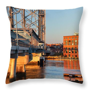 Memorial Bridge At Sunrise Throw Pillow by Eric Gendron