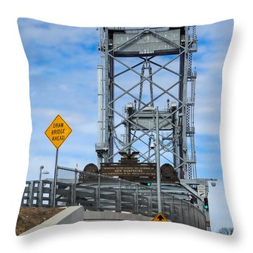 Memorial Bridge Portsmouth  Nh Throw Pillow