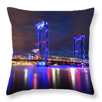 Throw Pillow featuring the photograph Memorial Bridge by Robert Clifford