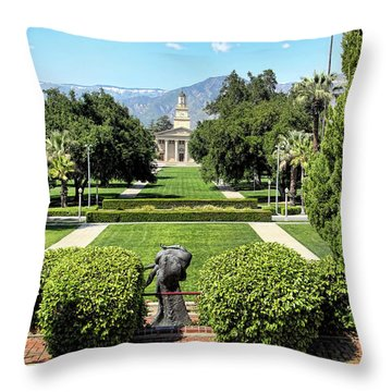 Memorial Chapel University Of Redlands Throw Pillow