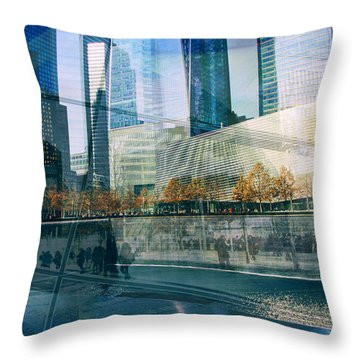 Throw Pillow featuring the photograph Memorial Collage by Jessica Jenney