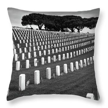 Memorial Day 2016 - Fort Rosecrans Throw Pillow