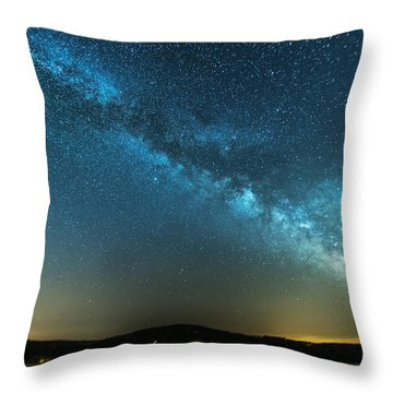 Memorial Day Milky Way Throw Pillow