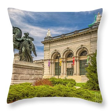 Throw Pillow featuring the photograph Memorial Hall - Fairmount Park by Nick Zelinsky