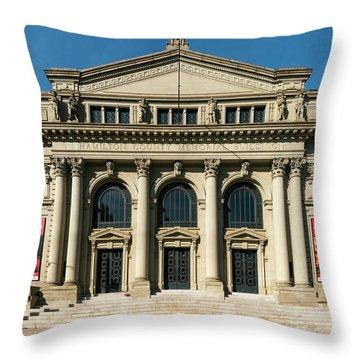 Memorial Hall Throw Pillow