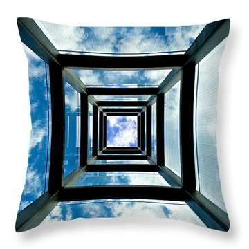 Memorial Stacks Throw Pillow by Greg Fortier