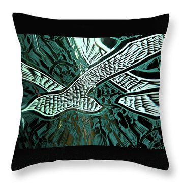 Memorial Swallows Throw Pillow by Lenore Senior