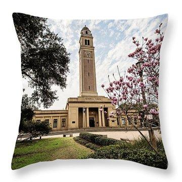 Memorial Tower Throw Pillow by Scott Pellegrin