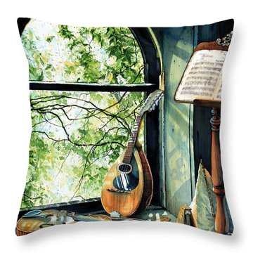 Memories And Music Throw Pillow