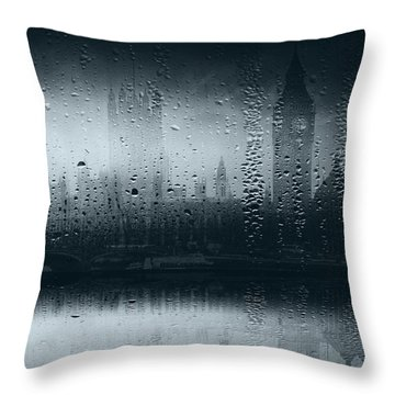 Throw Pillow featuring the digital art Mystical London by Fine Art By Andrew David