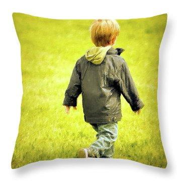 Throw Pillow featuring the photograph Memories... by Barbara Dudley