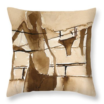 Memories From Childhood Throw Pillow
