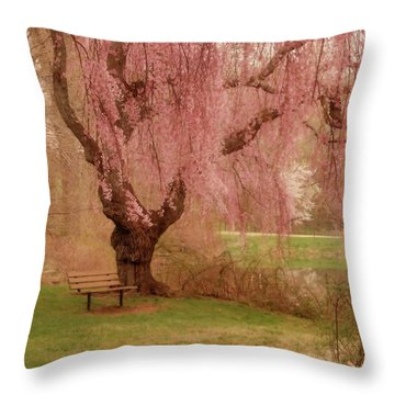 Memories - Holmdel Park Throw Pillow