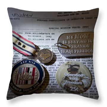 Throw Pillow featuring the photograph Memories Of A Past Life by Melany Sarafis