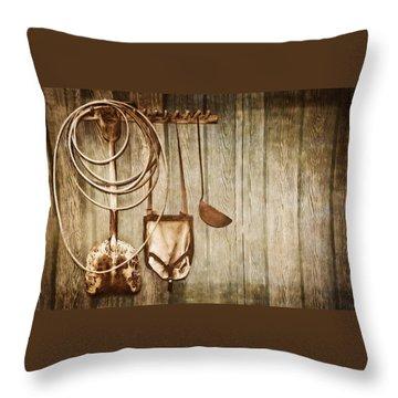 Memories Of Grandpa Throw Pillow by Carolyn Marshall