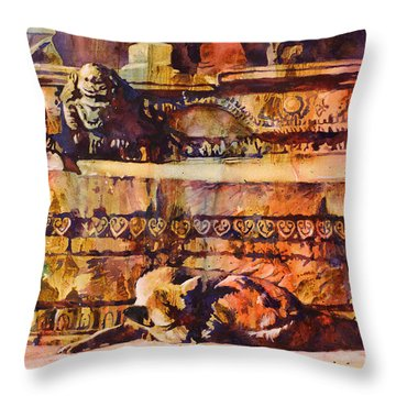 Memories Of Happier Times- Nepal Throw Pillow