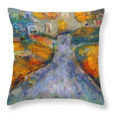 Memories Of Home In Autumn Throw Pillow