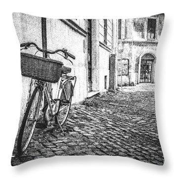 Memories Of Italy Sketch Throw Pillow