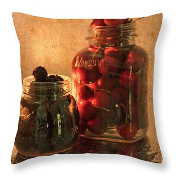 Memories Of Jams, Preserves And Jellies  Throw Pillow