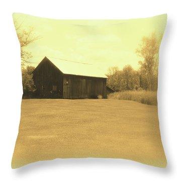 Memories Of Long Ago - Barn Throw Pillow