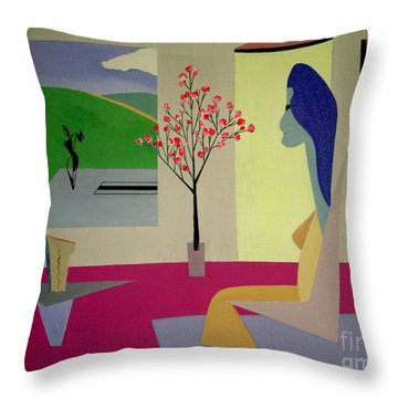 Memories Of May Throw Pillow