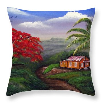 Memories Of My Island Throw Pillow by Luis F Rodriguez
